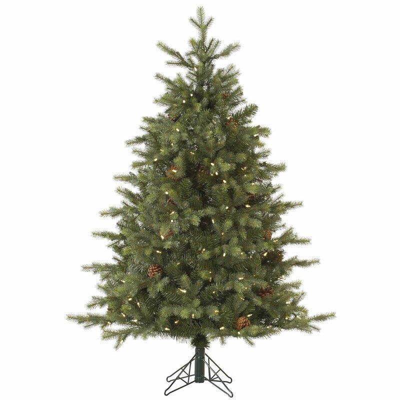 White Fir Christmas Tree: Vickerman Rocky Mountain 7.5' Green Fir Artificial