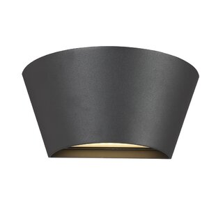 Orren Ellis Stoller Half-Cone 1-Light LED Outdoor Flush Mount