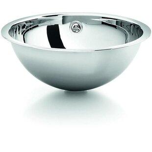 Inexpensive Metal Circular Drop-In Sink Bathroom Sink With Overflow ByAGM Home Store