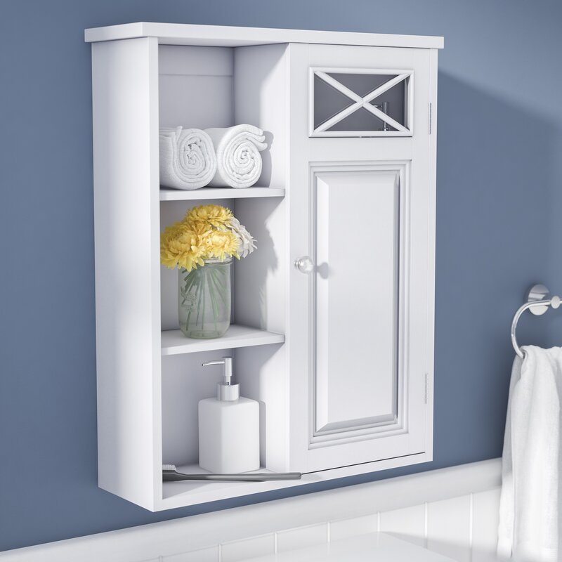 Coddington with Single Door and Shelves 20  W x 25  H Wall Mounted Cabinet. Wall Mounted Bathroom Cabinets You ll Love   Wayfair