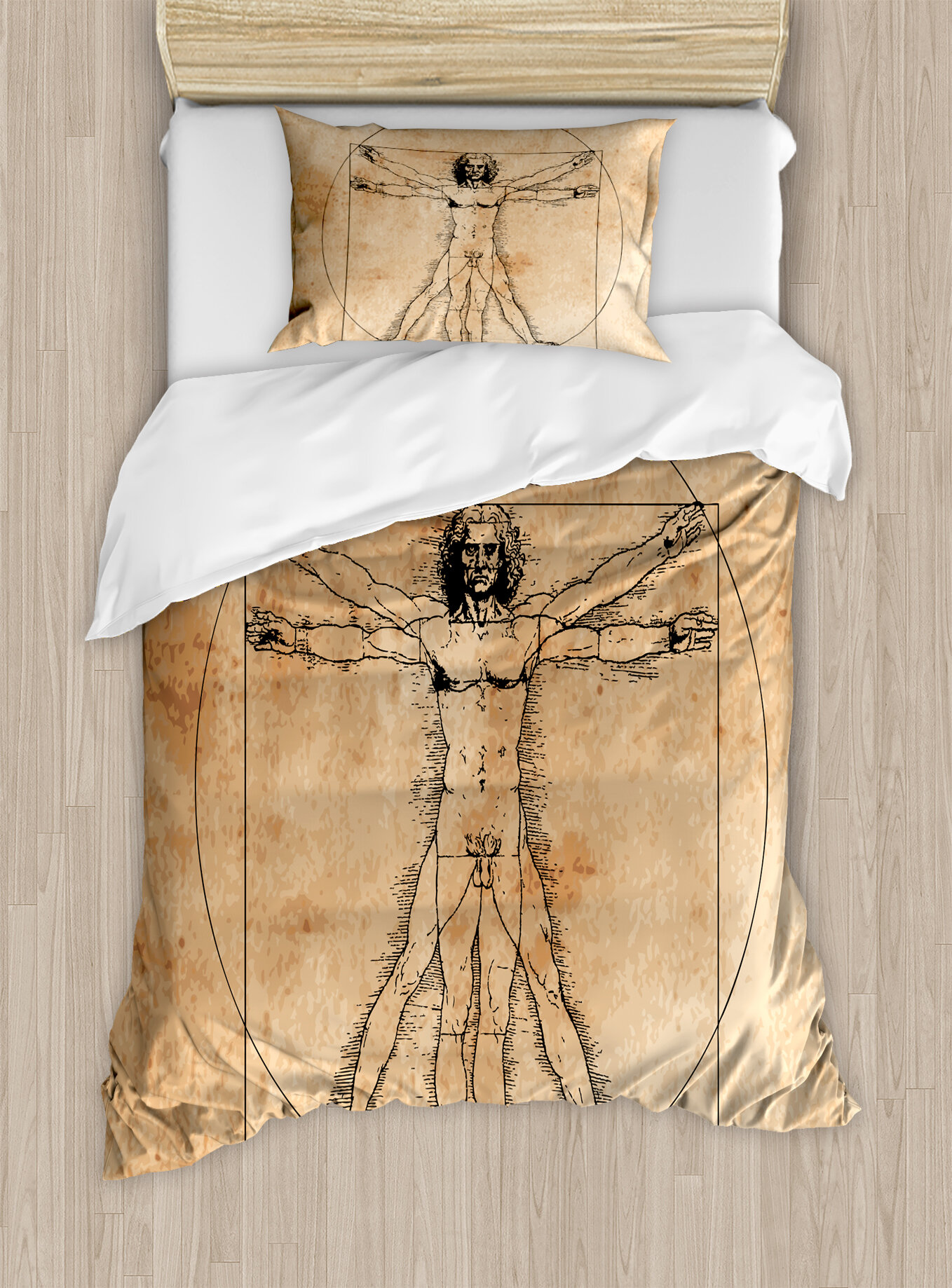 East Urban Home Human Anatomy Medieval Vitruvian Crosshatching