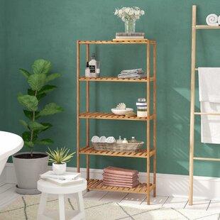 5 Tier Bamboo 130cm H X 60cm W Bathroom Shelf By Symple Stuff