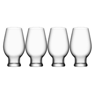 Beer India Pale Ale 16 oz. Crystal Pint Glass (Set of 4)