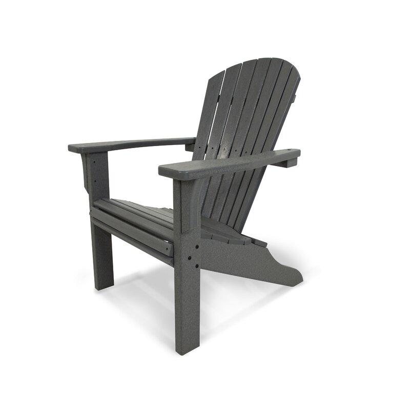 Superbe Seashell Plastic Adirondack Chair