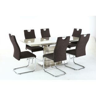 Glacier Extendable Dining Set With 6 Chairs ...