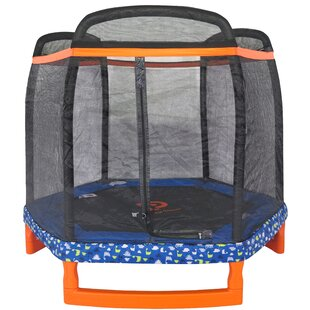 Jump Power Trampoline 6.62' Hexagon with Safety Enclosure