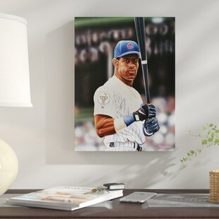 'Sammy Sosa Chicago Cubs' Oil Painting Print on Wrapped Canvas by East Urban Home