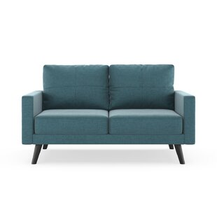 Shop Cowden Mod Velvet Loveseat by Corrigan Studio