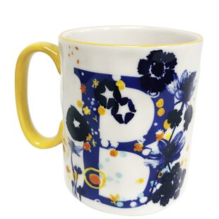 Erwin Floral 'B' Initial Coffee Mug