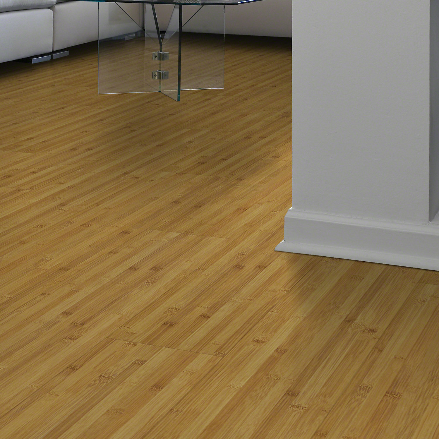 "Shaw Floors Rosswood 8"" x 48"" x 7 94mm Bamboo Laminate Flooring in"