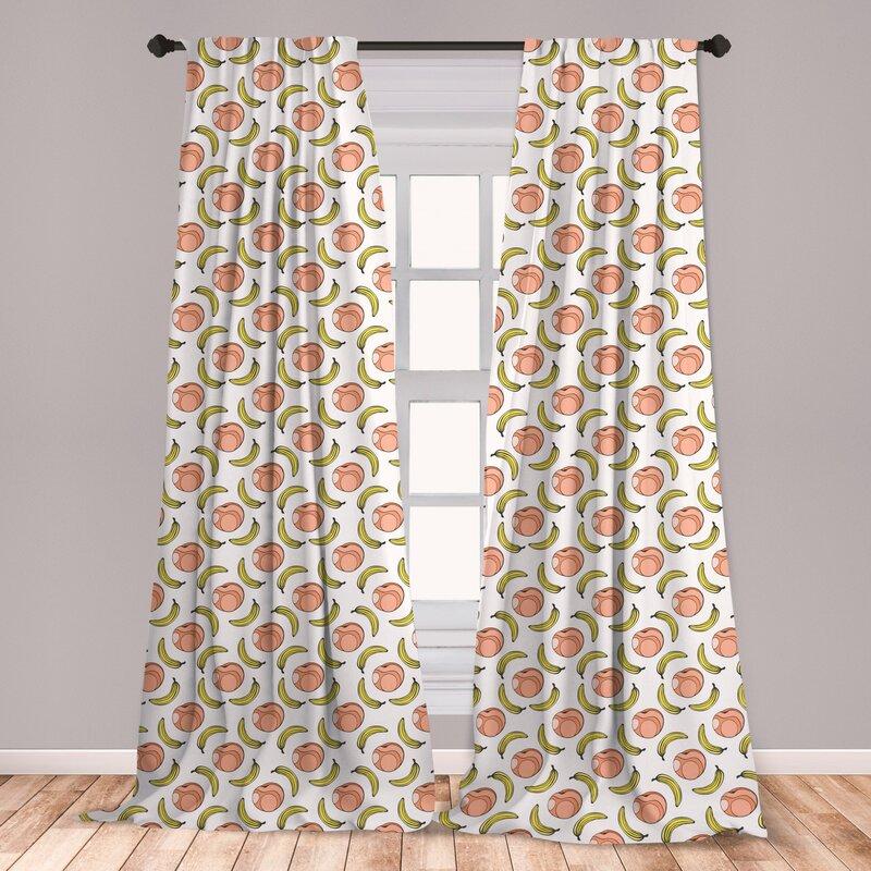 East Urban Home Fruit Art Room Darkening Rod Pocket Curtain Panels Wayfair