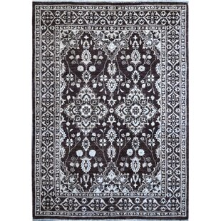 Best Reviews One-of-a-Kind Hand-Knotted Wool Black/White Area Rug ByWildon Home ®