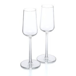 Essence 7 oz. Crystal Stemmed Wine Glass (Set of 2)