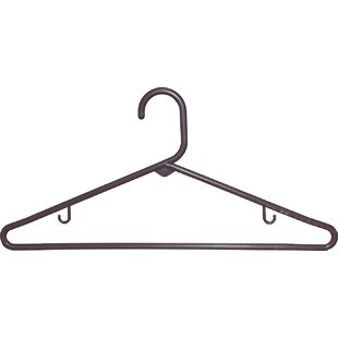 Reviews Kian Tubular Plastic Top Hanger with Fixed Bar (Set of 72) By Symple Stuff