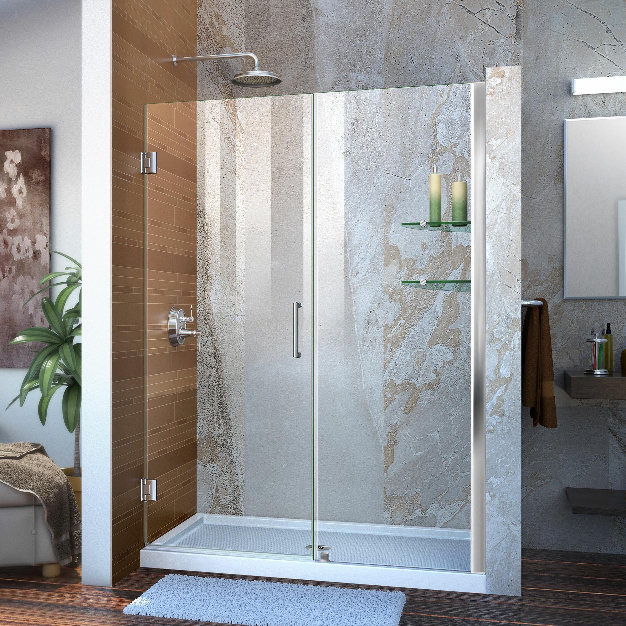 Dreamline Unidoor 50 X 72 Hinged Frameless Shower Door With