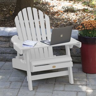 Longshore Tides Camacho Plastic Folding Adirondack Chair with Table