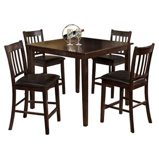 Clarks 5 Piece Counter Height Dining Set Hokku Designs