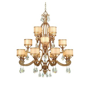 Astoria Grand Cyra 16-Light Shaded Chandelier
