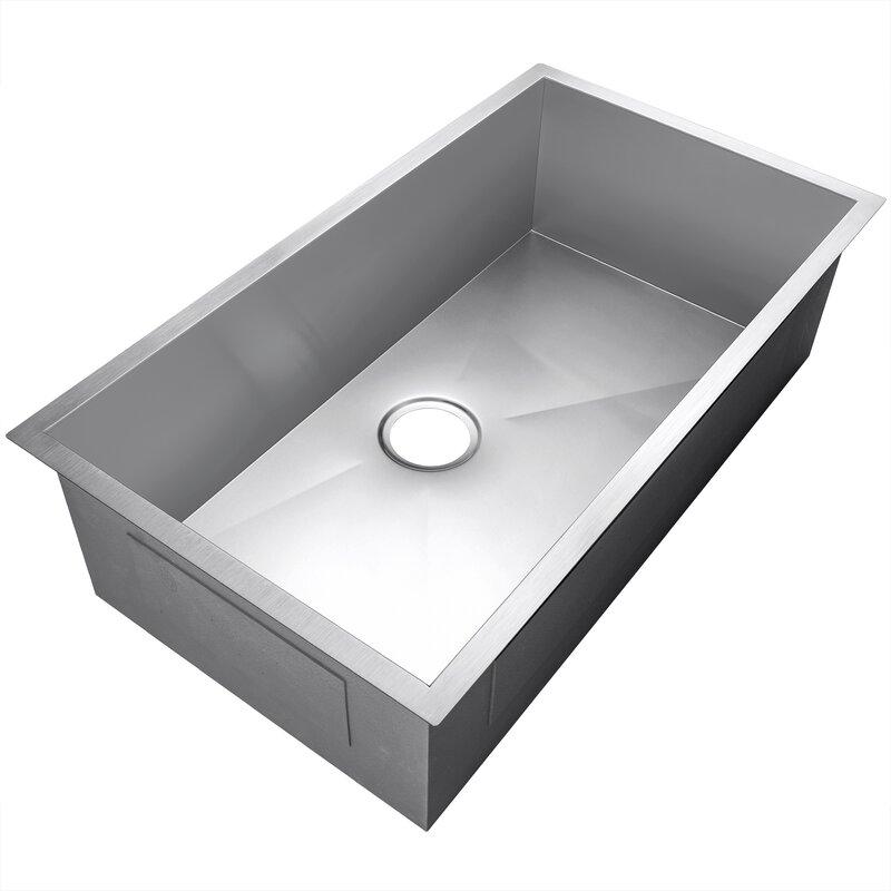 Akdy Golden Vantage 33 L X 22 W Undermount Kitchen Sink