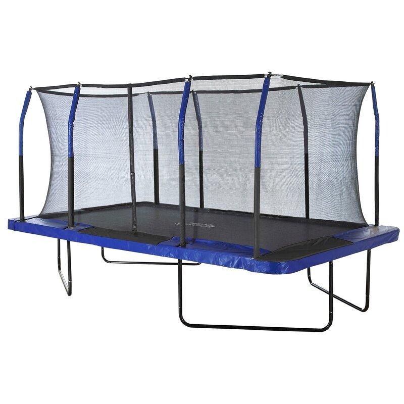 Upper Bounce 14'' Rectangular Backyard Trampoline with ...