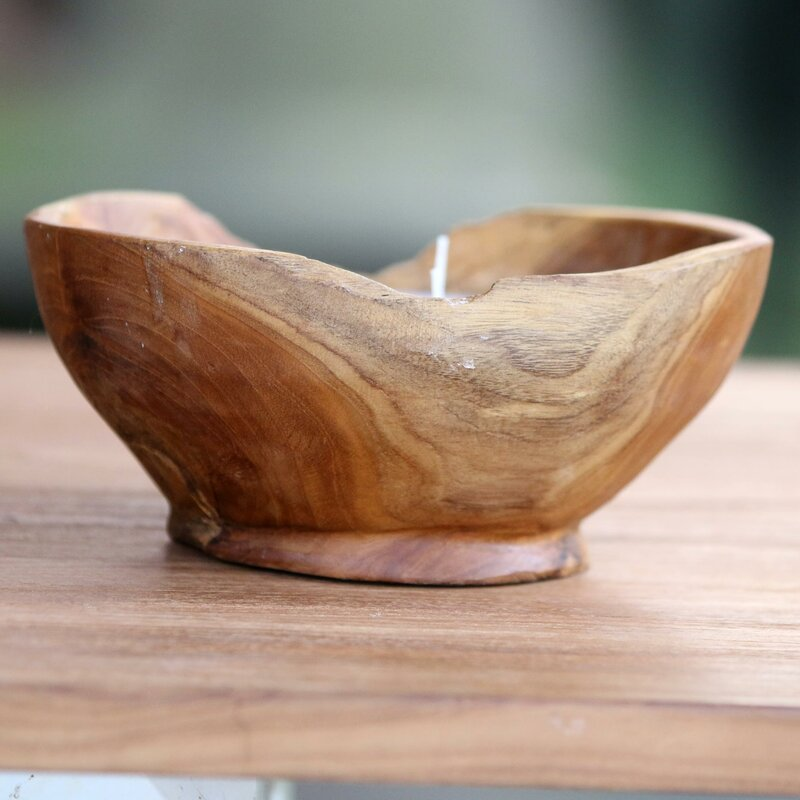 Flame Shrine Wood Votive Candle Birch Lane