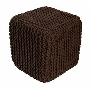 Buy Sale Temara Braided Hand-Knitted Pouffe