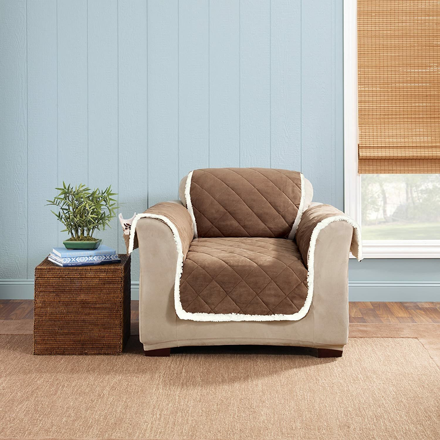 Sure Fit Box Cushion Recliner Slipcover Reviews Wayfair