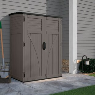 Outdoor 4 ft. W x 2 ft. D Plastic Vertical Tool Shed