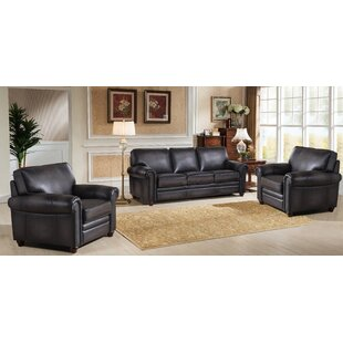 Canora Grey Faringdon 3 Piece Leather Liv..