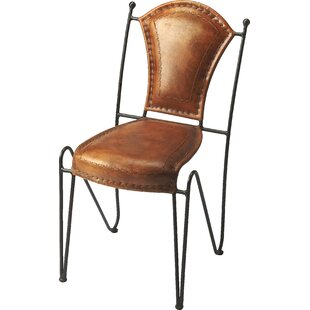Galesburg Genuine Leather Upholstered Dining Chair by Red Barrel Studio Today Sale Only