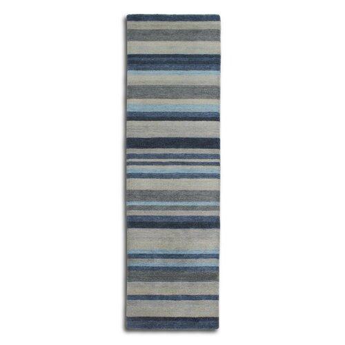 Regatta Wool Blue Rug Ebern Designs Rug Size: Runner 70 x 24