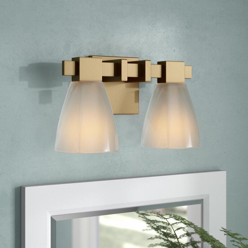 Wrought Studio Weehawken Modern 2 Light Vanity Light Wayfair Ca