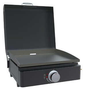 Portable 1-Burner Flat Top Liquid Propane Gas Grill By Lifesmart