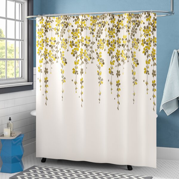 August Grove Anatoli Floral Single Shower Curtain Reviews Wayfair