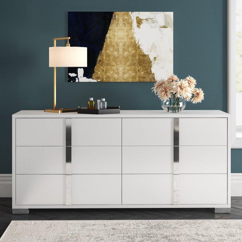 Orren Ellis Demaria 6 Drawer Double Dresser Reviews Wayfair