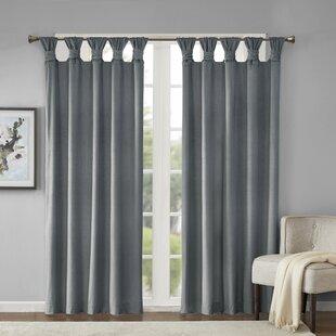 Lewiston Solid Room Darkening Tab Top Single Curtain Panel