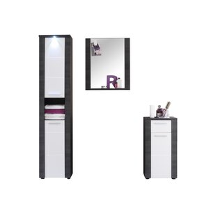 Rohrbach 3 Piece Bathroom Furniture Set With Mirror By Mercury Row