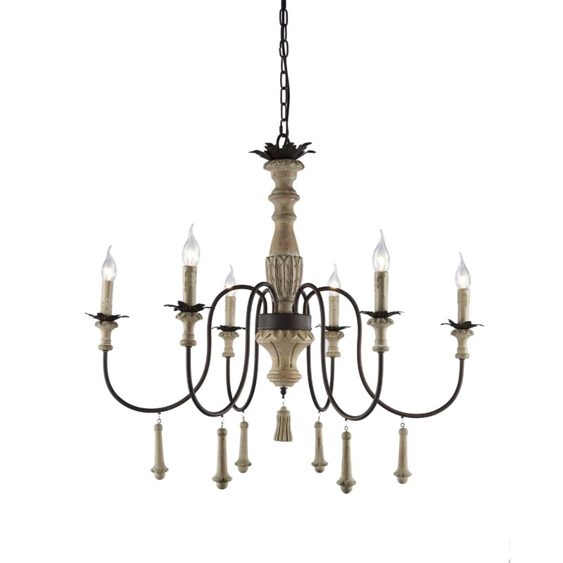 Bertrand 6-Light Chandelier. 5 Fixer Upper Paint Colors & 25 Decorating Ideas.