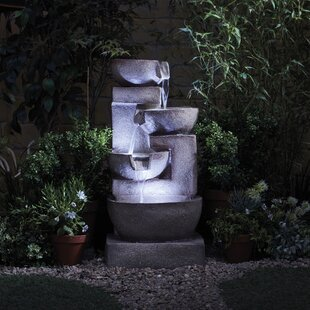 Timmins Polystone Fountain With LED Light By Sol 72 Outdoor