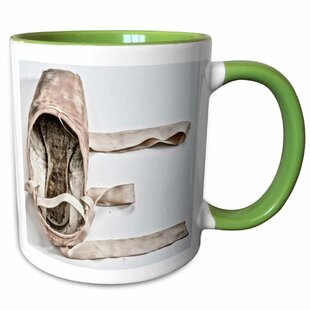 French Romance Letter E With Created With a Pointe Shoe Coffee Mug