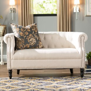 Best Price Huntingdon Chesterfield Loveseat by Three Posts