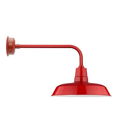 Oldage Led Outdoor Barn Light Cocoweb Finish Cherry Red Size 1553 H X 14 W X 3325 D