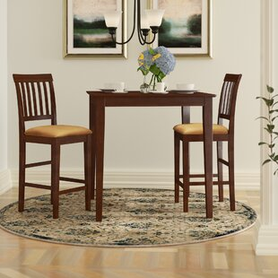 Givens 3 Piece Counter Height Bistro Set