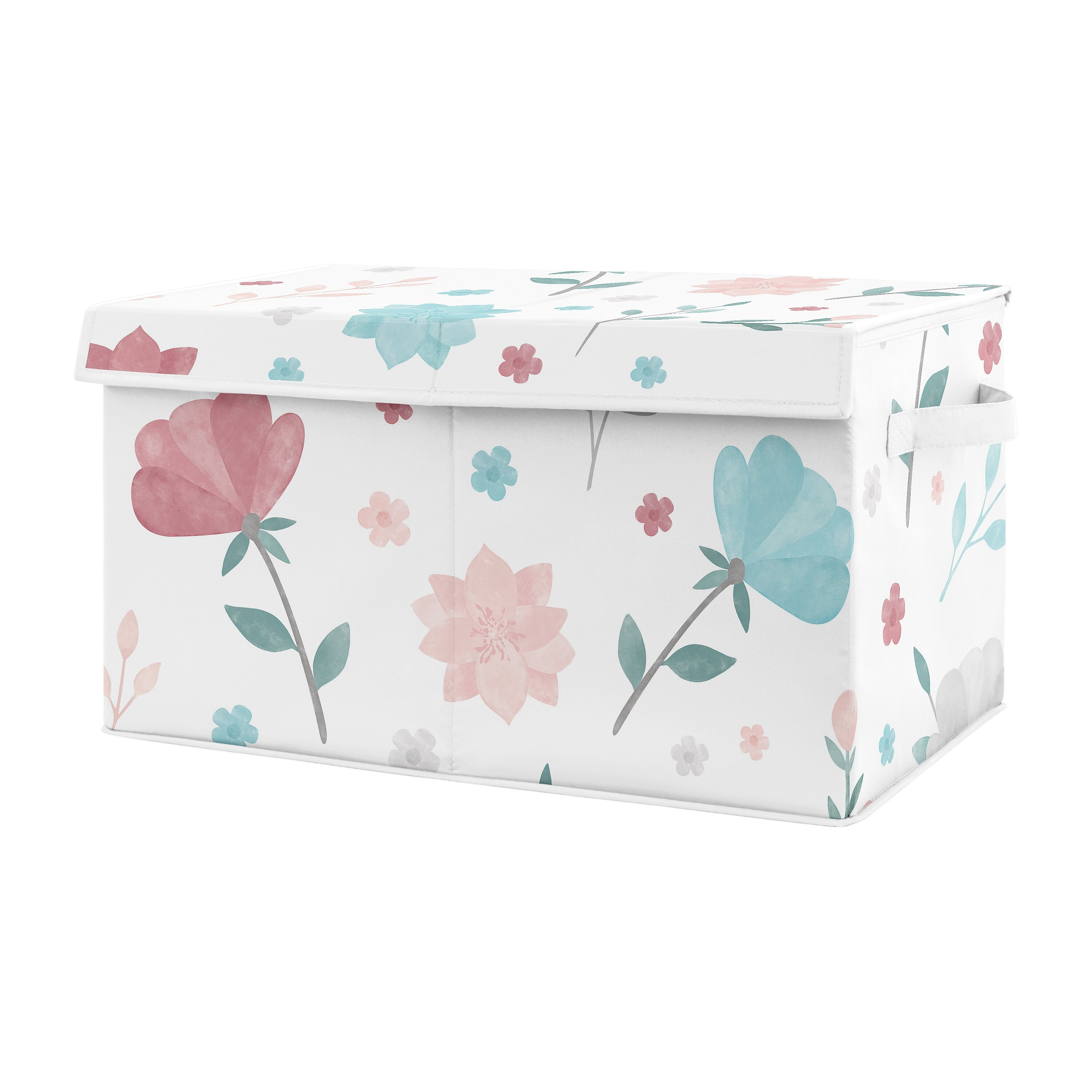 Sweet Jojo Designs Pop Rose Fabric Toy Box Wayfair