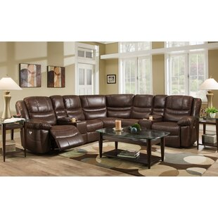 Kinbrae Dual Console Reclining Sectional Red Barrel Studio