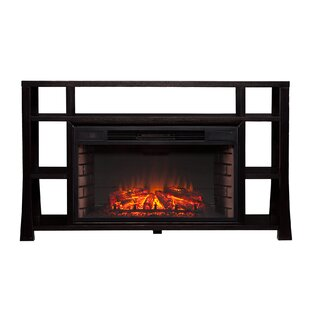 Walker Media TV Stand With Fireplace