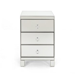 Mattison Modern Mirrored 3 Drawer Accent Chest by House of Hampton