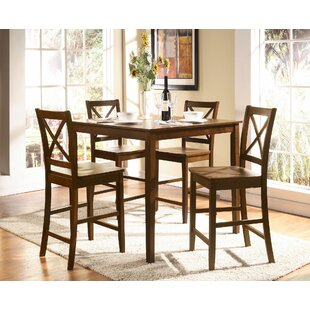 Padillo 5 Pieces Pub Table Set by Charlton Home