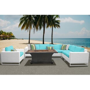 TK Classics Miami 8 Piece Sectional Set with Cushions