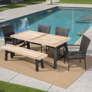 Arabi Outdoor 6 Piece Dining Set by Brayden Studio